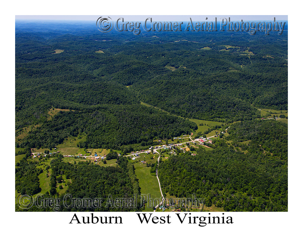 Aerial Photo of Auburn, West Virginia