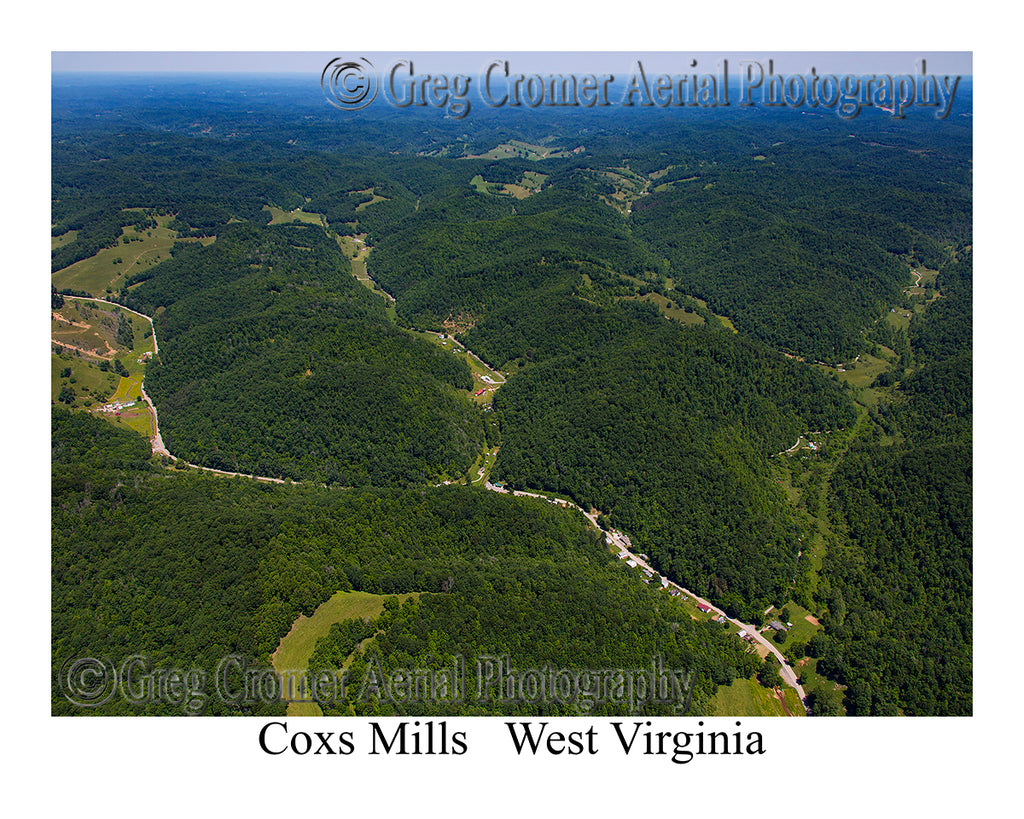 Aerial Photo of Coxs Mills, West Virginia