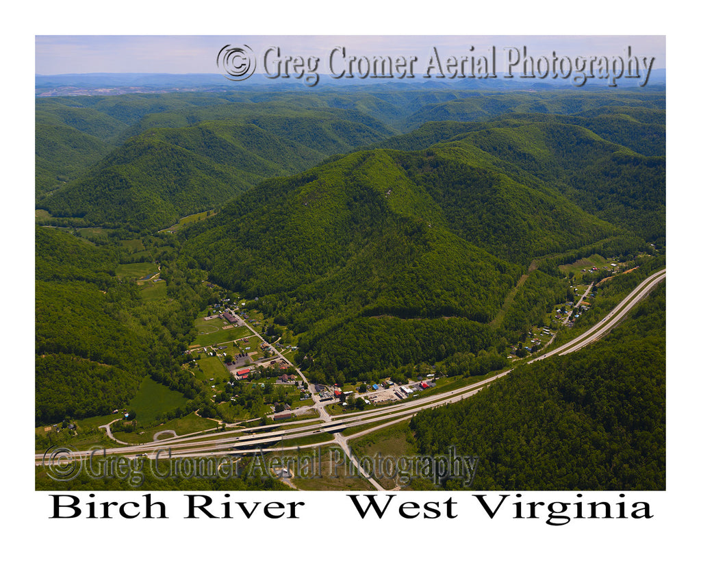 Aerial Photo of Birch River, West Virginia