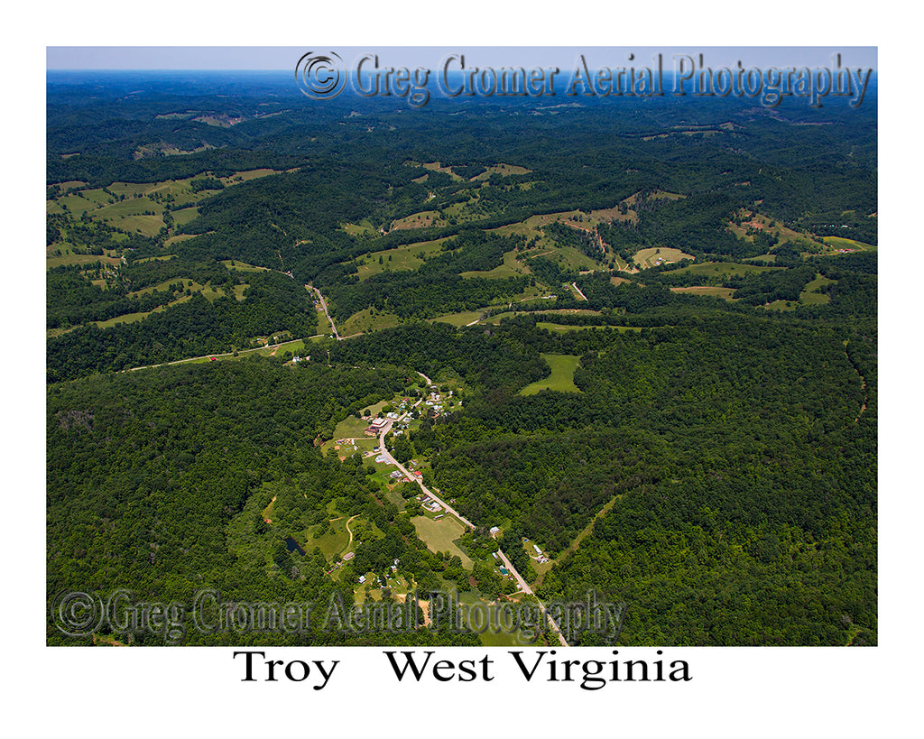 Aerial Photo of Troy, West Virginia
