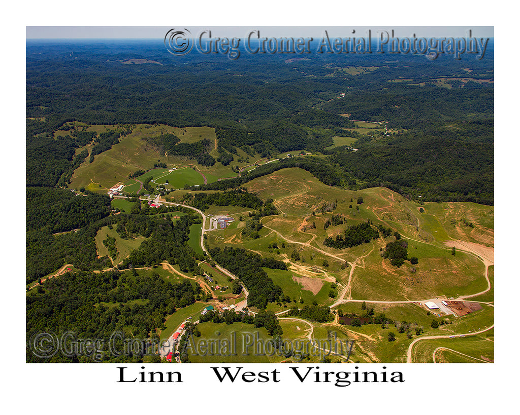 Aerial Photo of Linn, West Virginia