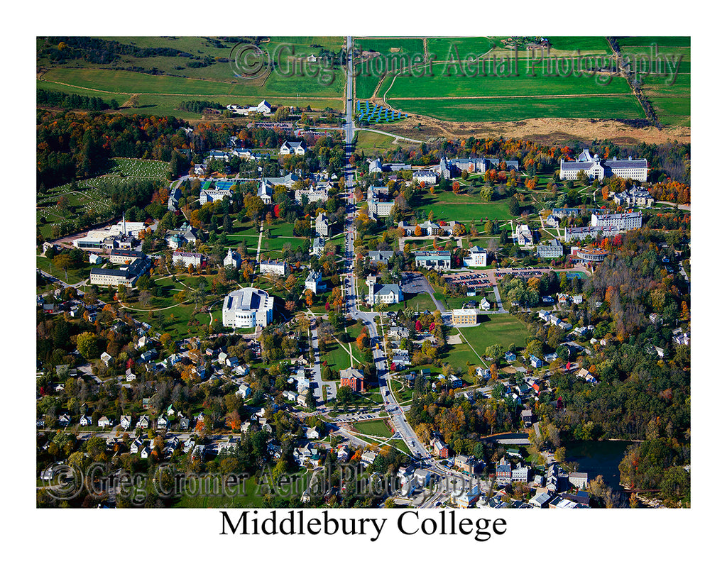 Aerial Photo of Middlebury College, Middlebury, Vermont