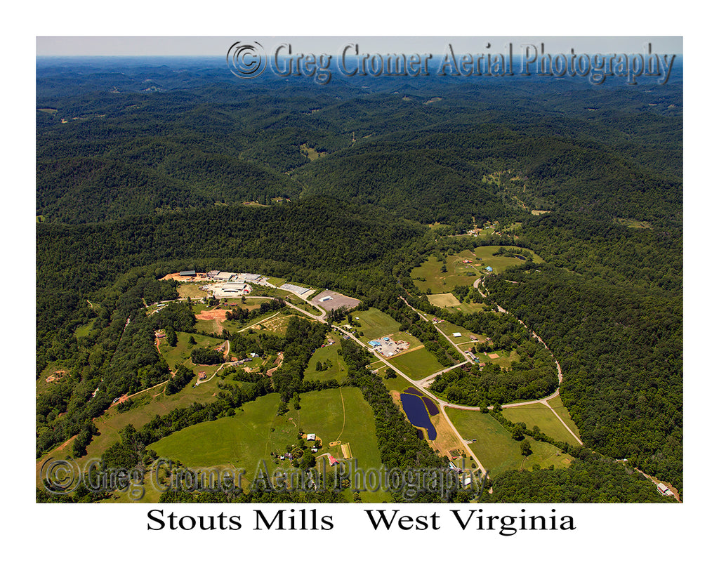 Aerial Photo of Stouts Mills, West Virginia