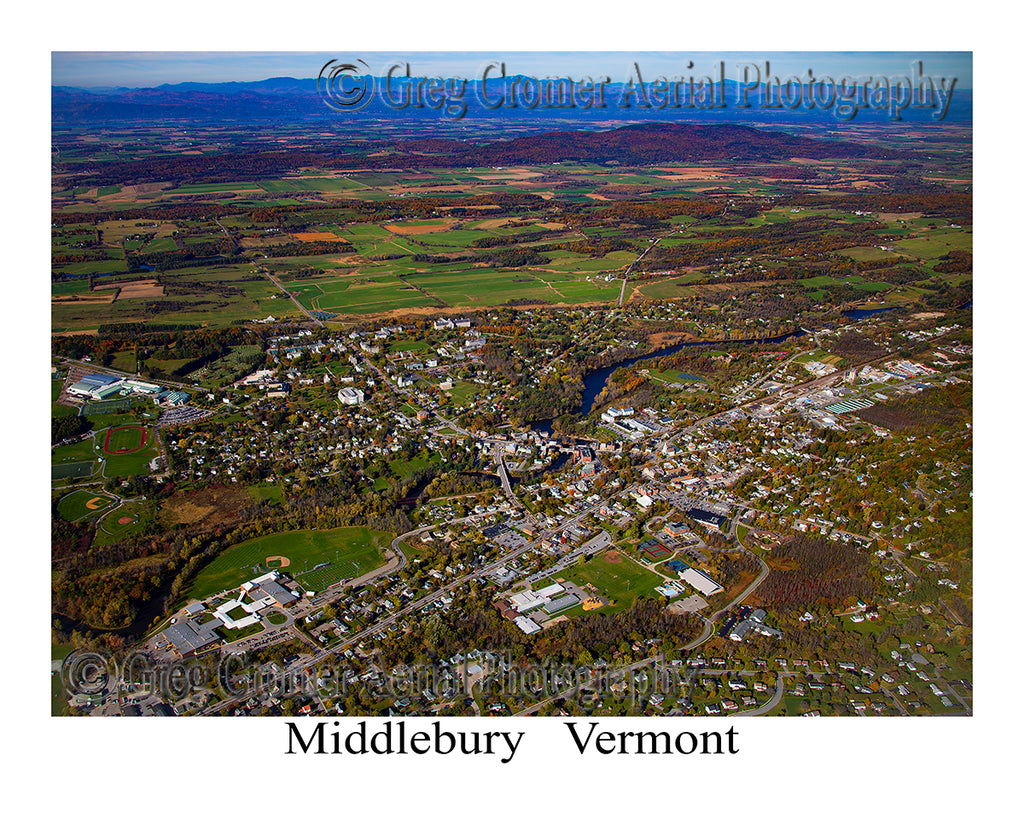 Aerial Photo of Middlebury, Vermont