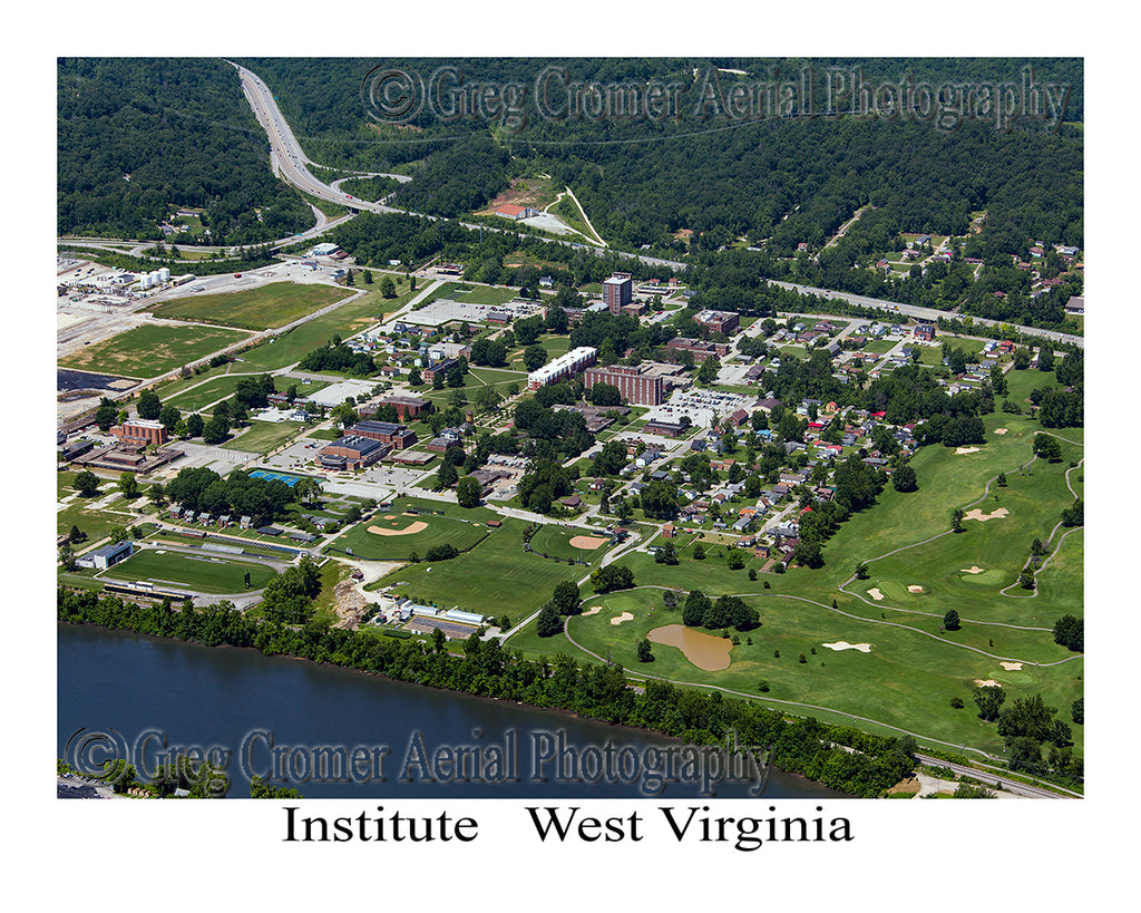 Aerial Photo of Institute, West Virginia