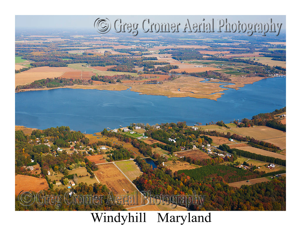 Aerial Photo of Windyhill, Maryland