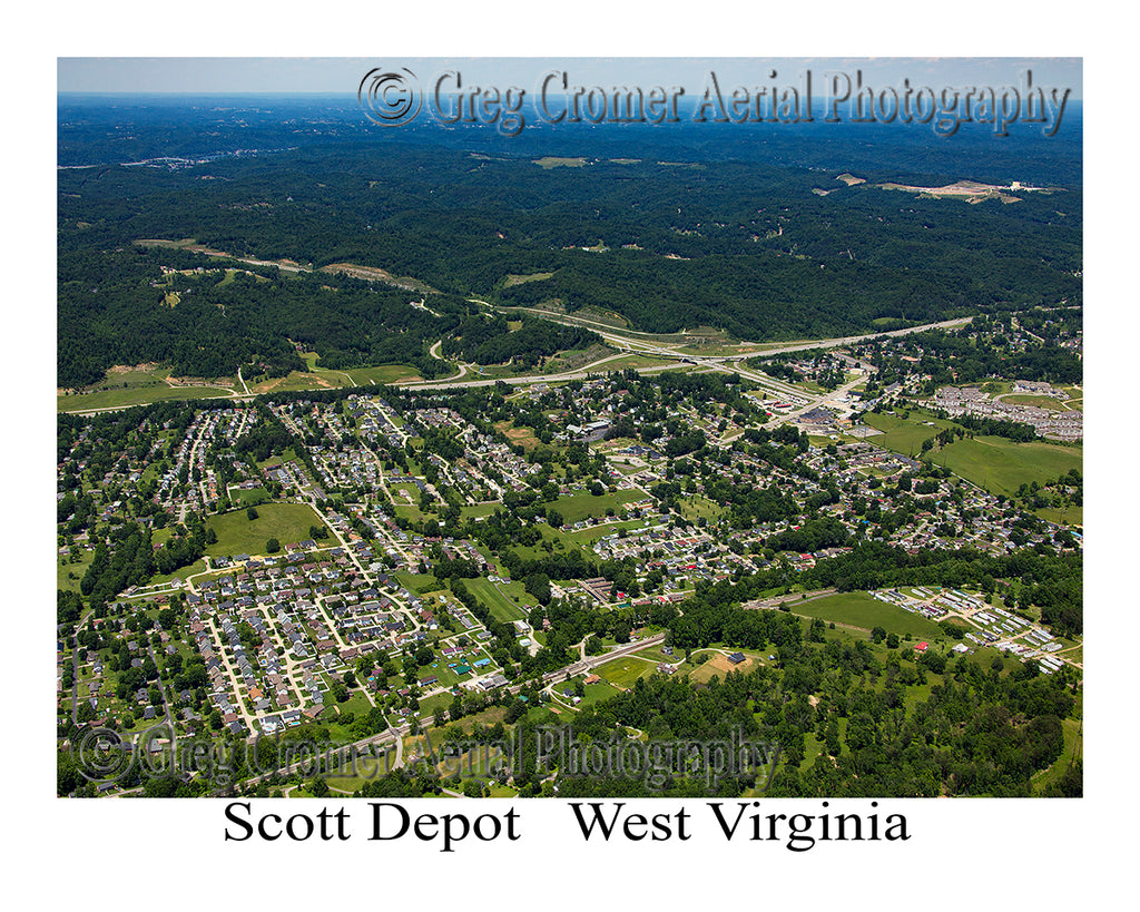 Aerial Photo of Scott Depot, West Virginia