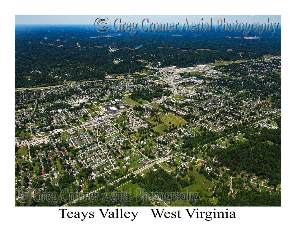 Aerial Photo of Teays Valley, West Virginia
