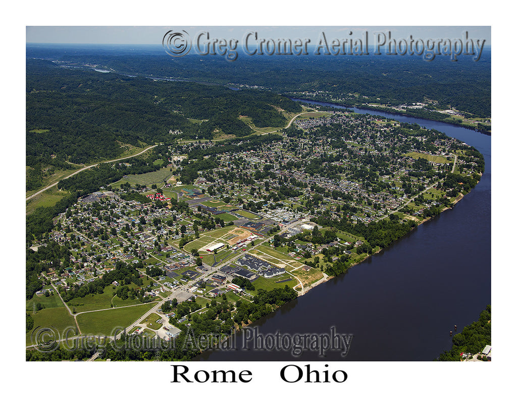 Aerial Photo of Rome, Ohio