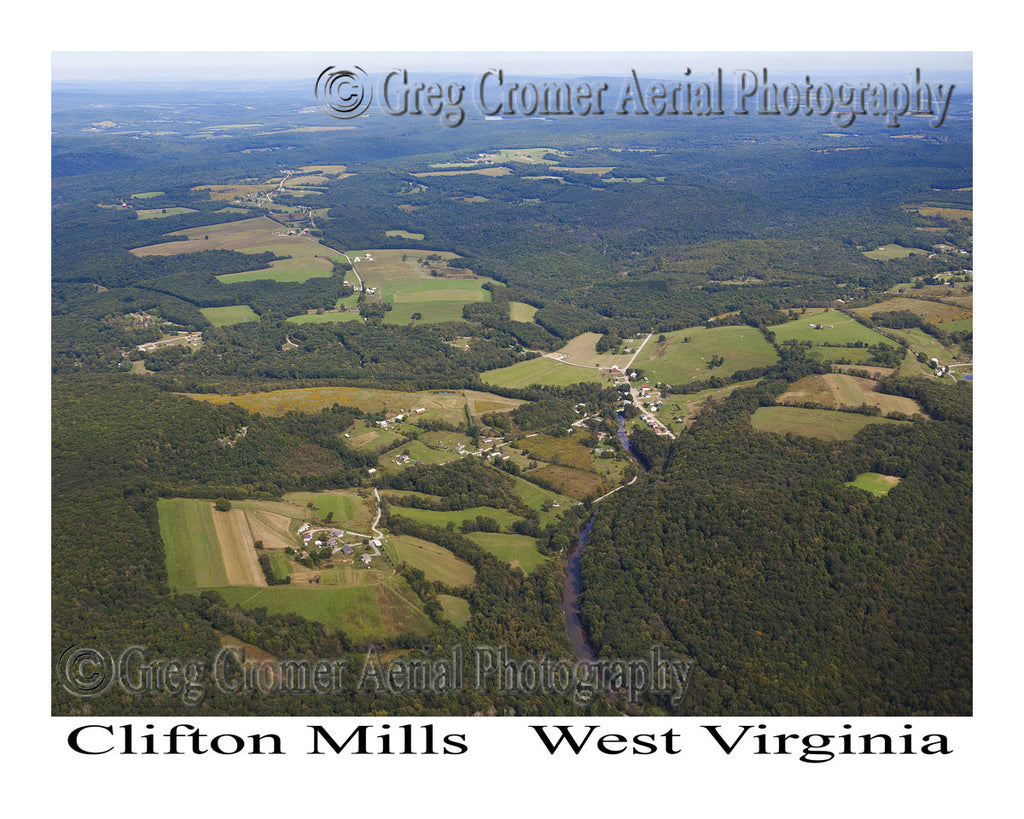 Aerial Photo of Clifton Mills, West Virginia