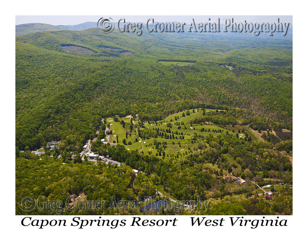 Aerial Photo of Capon Springs, West Virginia