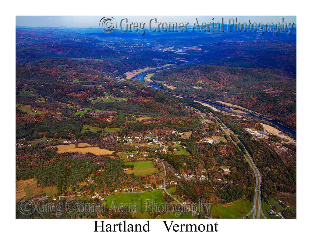 Aerial Photo of Hartland, Vermont