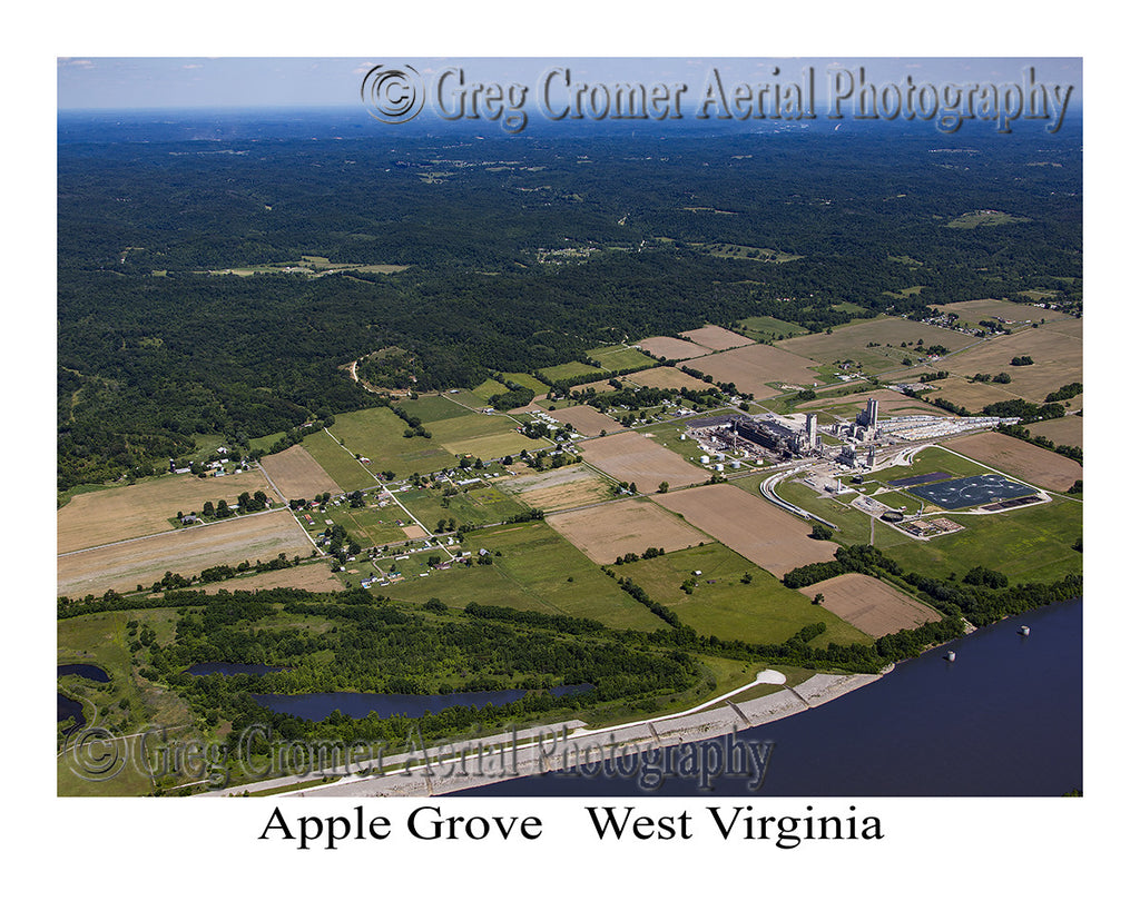 Aerial Photo of Apple Grove, West Virginia