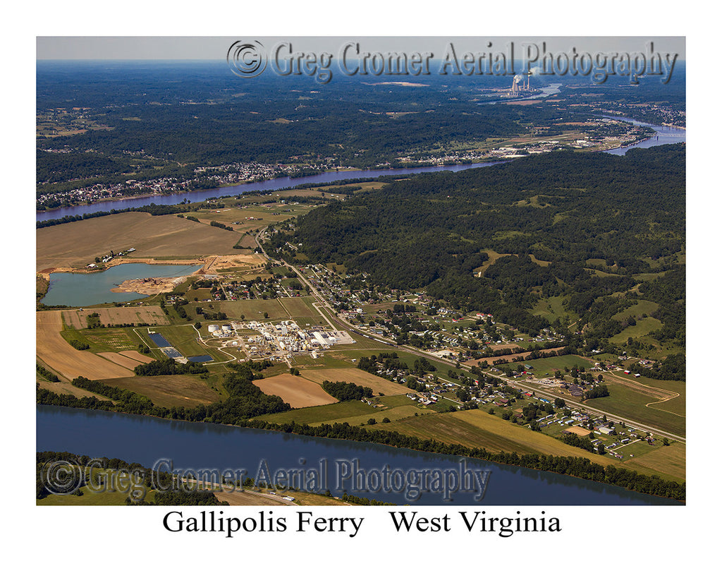 Aerial Photo of Gallipolis Ferry, West Virginia