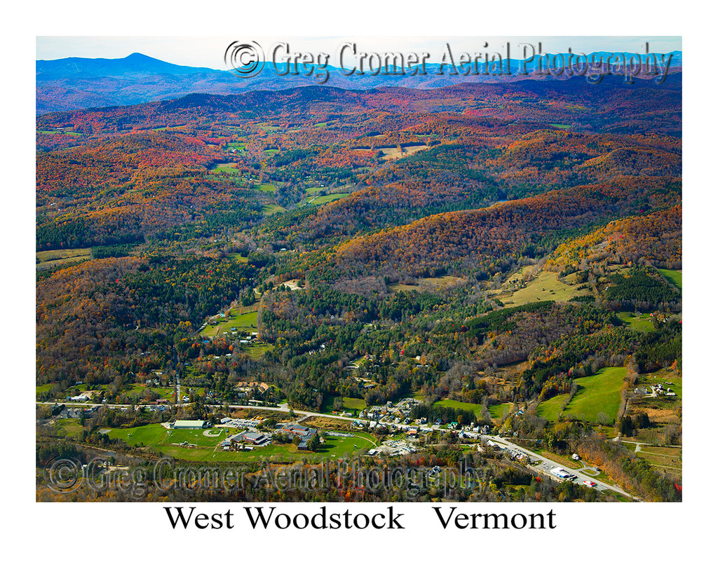Aerial Photo of West Woodstock, Vermont