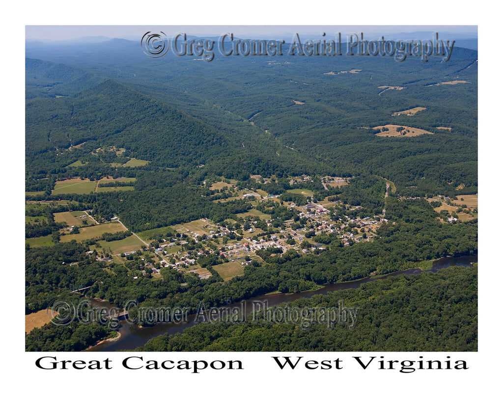 Aerial Photo of Great Cacapon, West Virginia