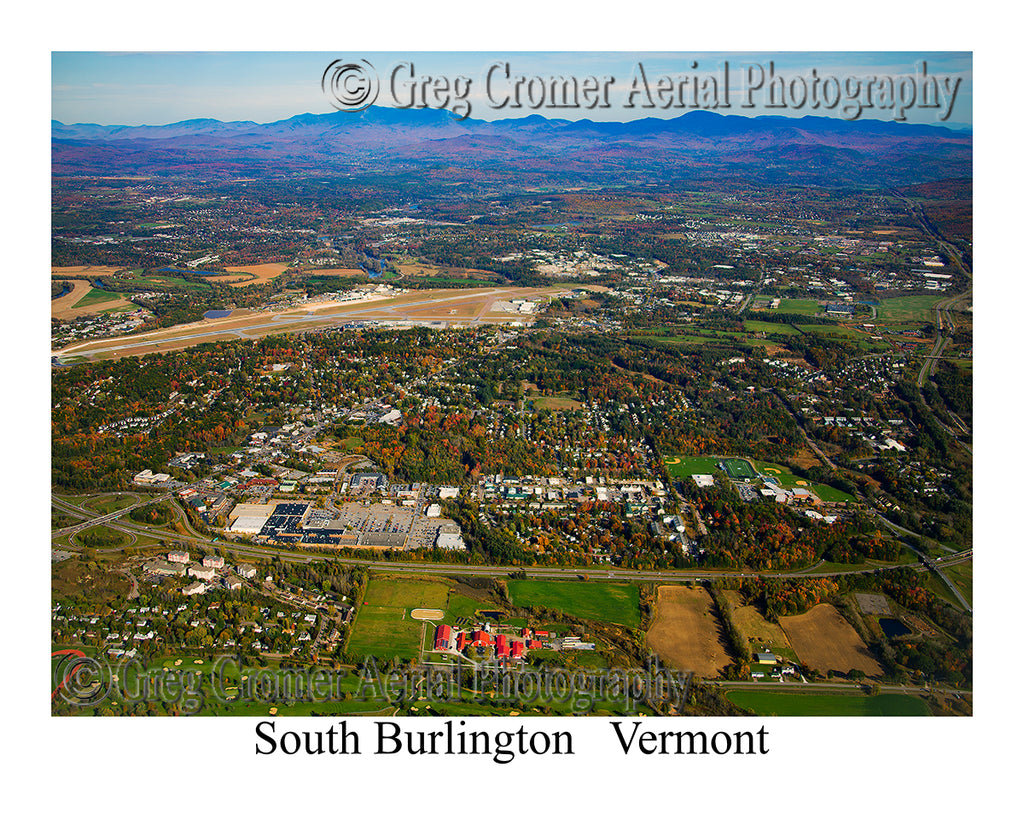Aerial Photo of South Burlington, Vermont