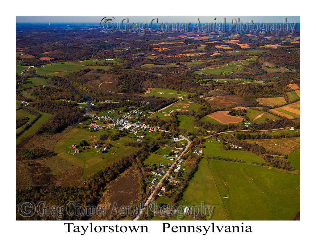 Aerial Photo of Taylorstown, Pennsylvania