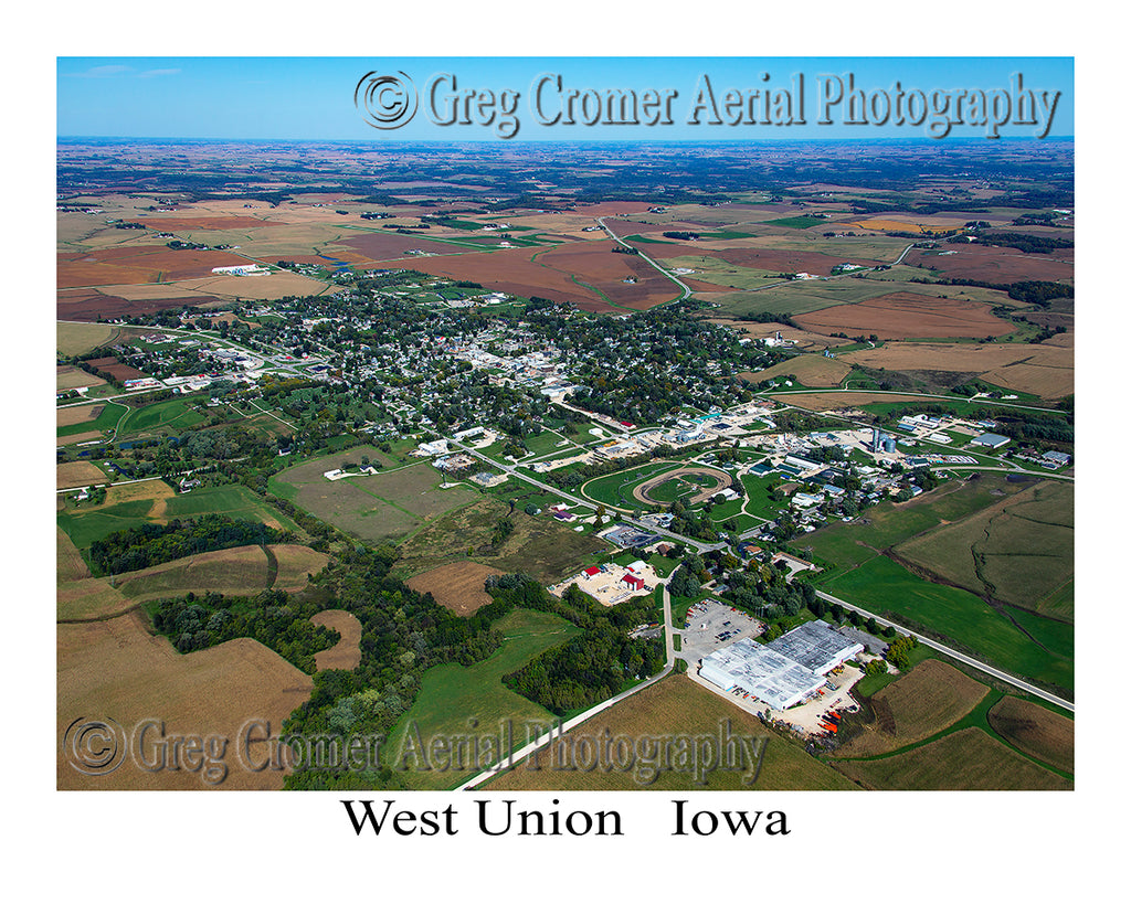Aerial Photo of West Union, Iowa