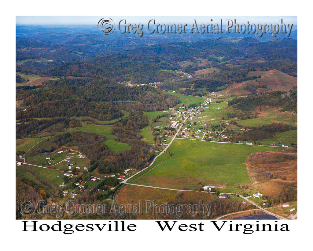 Aerial Photo of Hodgesville, West Virginia