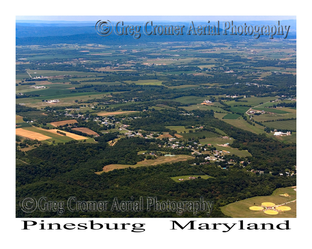 Aerial Photo of Pinesburg, Maryland