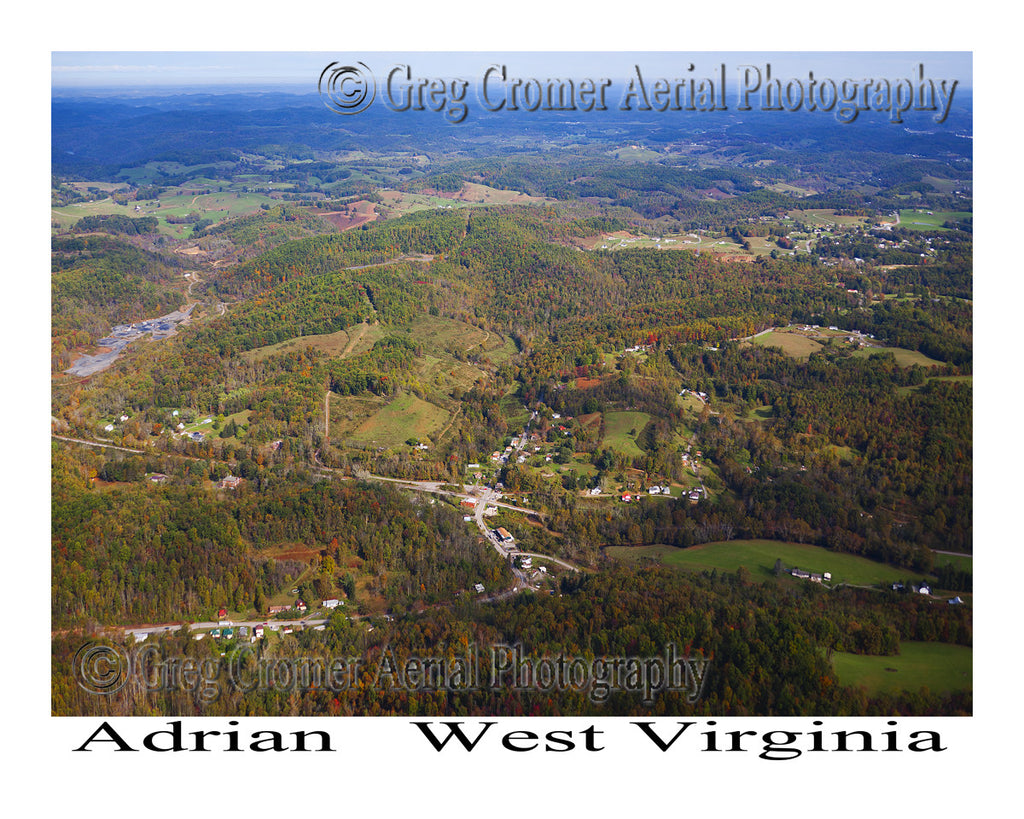 Aerial Photo of Adrian, West Virginia