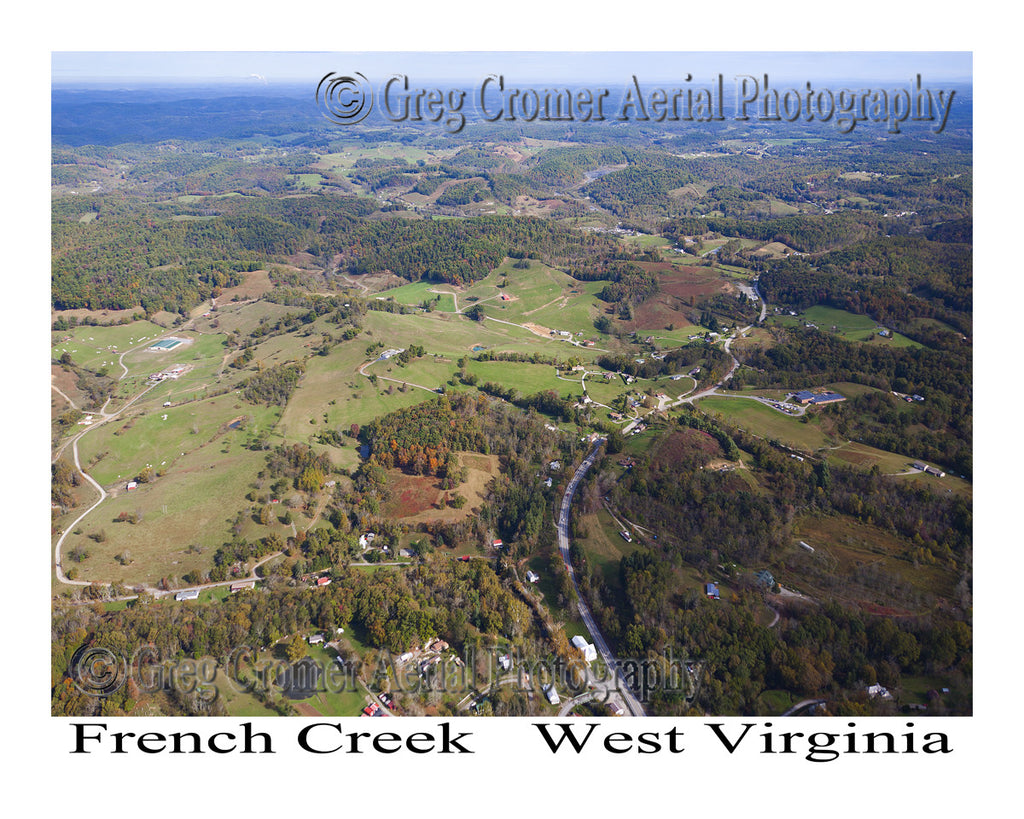 Aerial Photo of French Creek, West Virginia