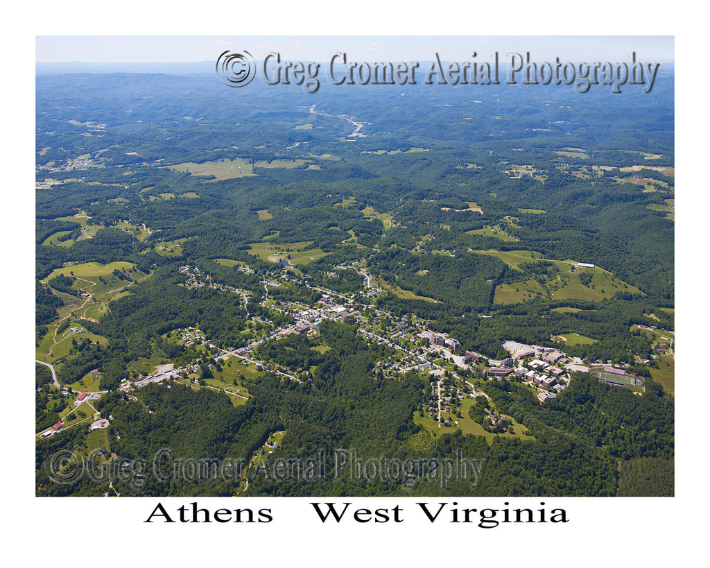 Aerial Photo of Athens, West Virginia