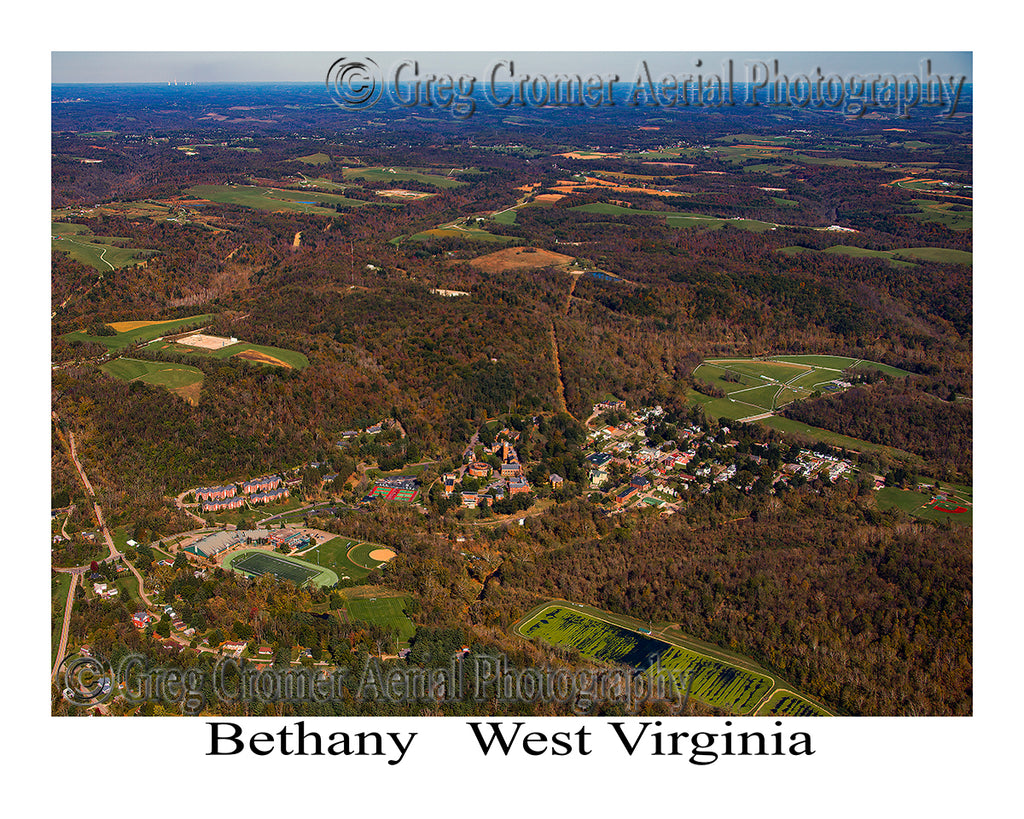 Aerial Photo of Bethany, West Virginia