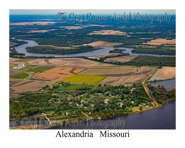 Aerial Photo of Alexandria, Missouri