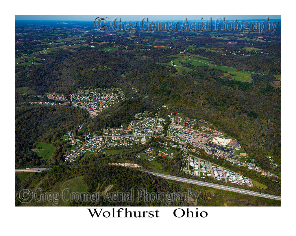 Aerial Photo of Wolfhurst, Ohio