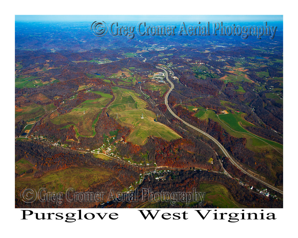 Aerial Photo of Pursglove, West Virginia