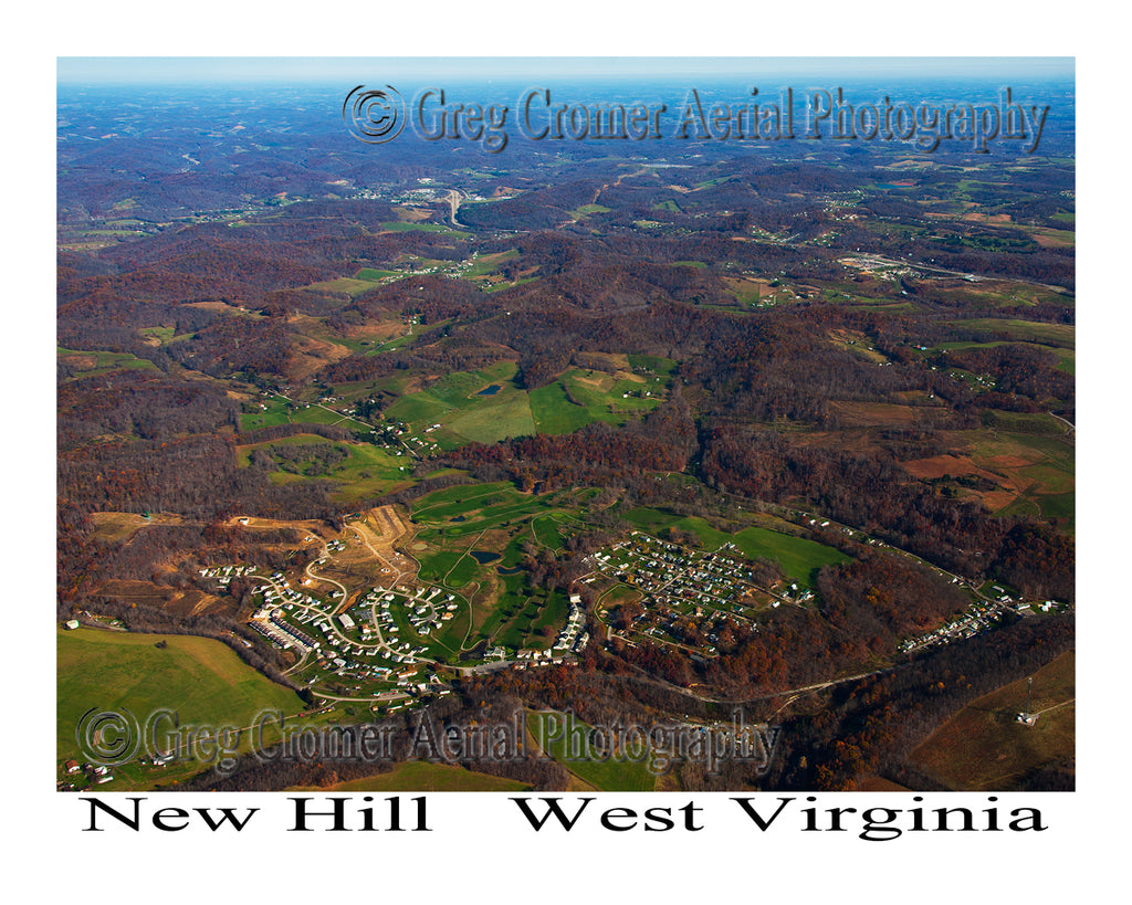 Aerial Photo of New Hill, West Virginia