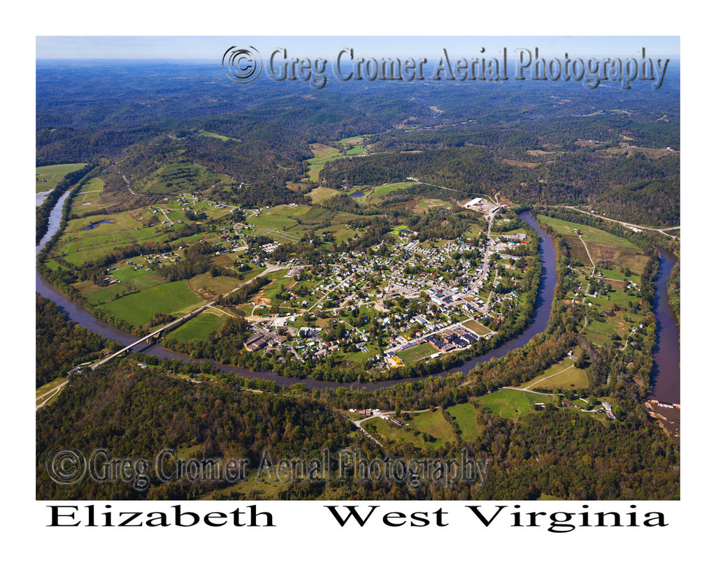 Aerial Photo of Elizabeth, West Virginia