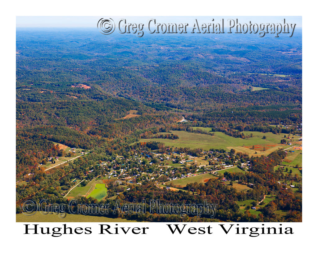 Aerial Photo of Hughes River, West Virginia