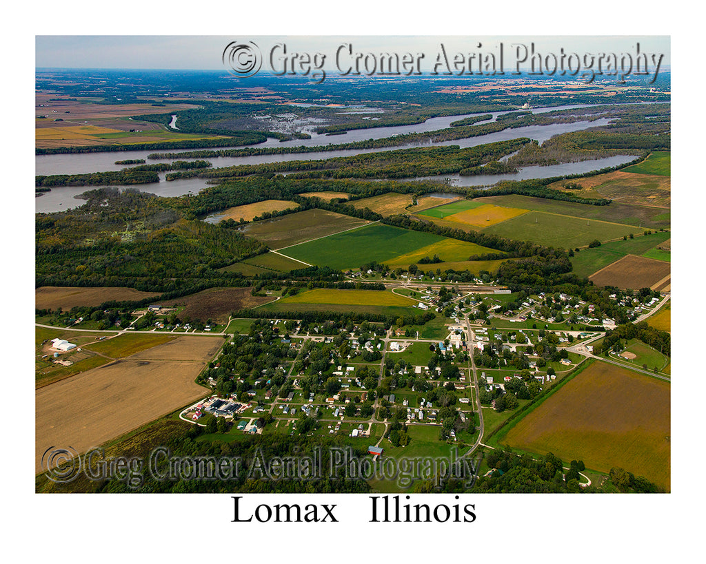 Aerial Photo of Lomax, Illinois