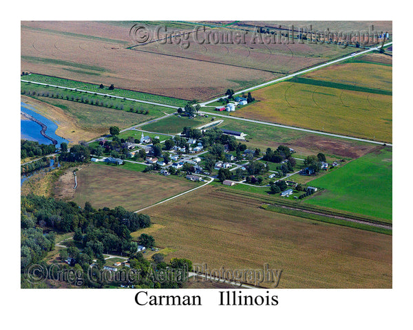Aerial Photo of Carman, Illinois