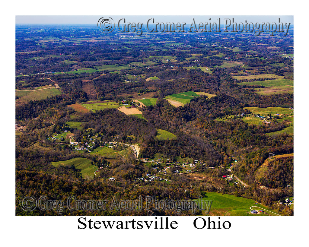 Aerial Photo of Stewartsville, Ohio