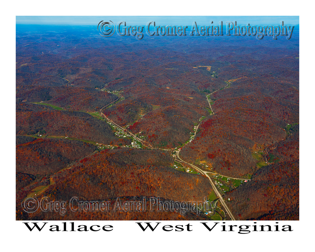 Aerial Photo of Wallace, West Virginia