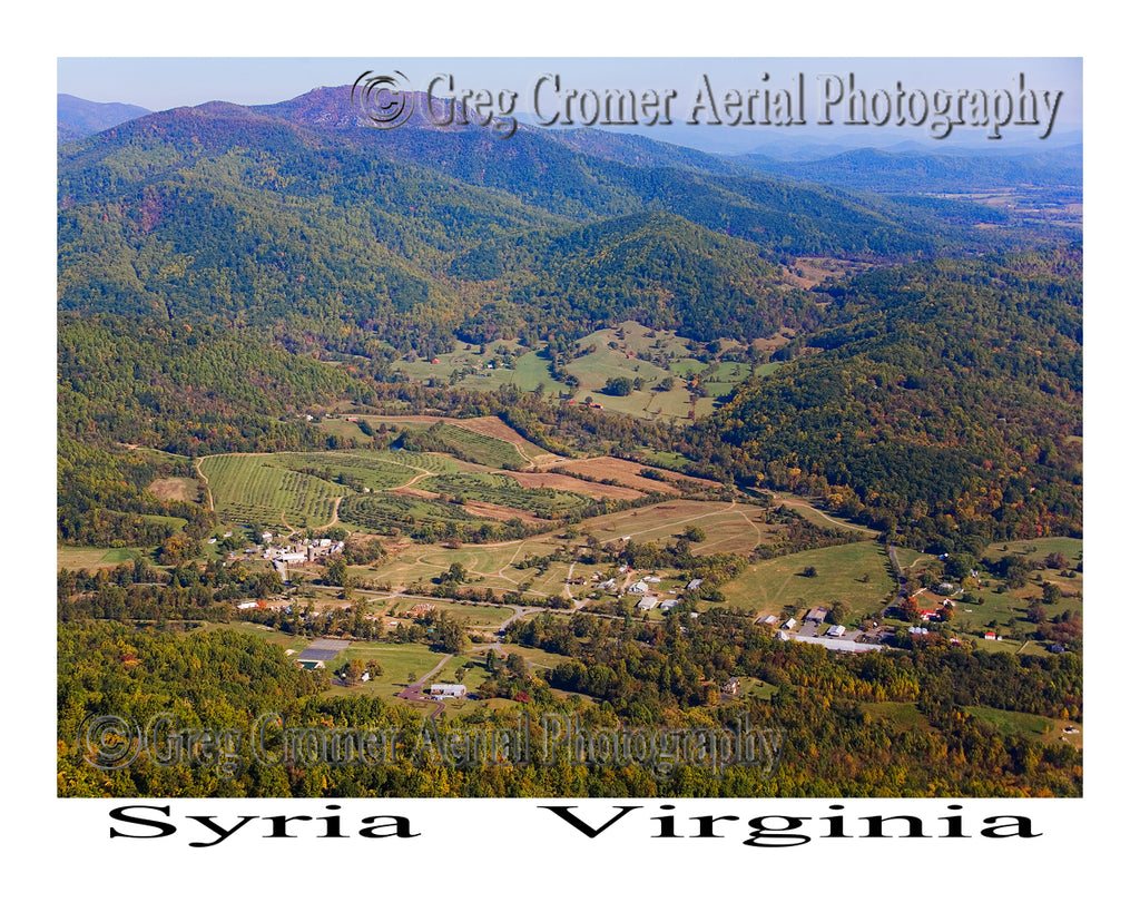 Aerial Photo of Syria, Virginia