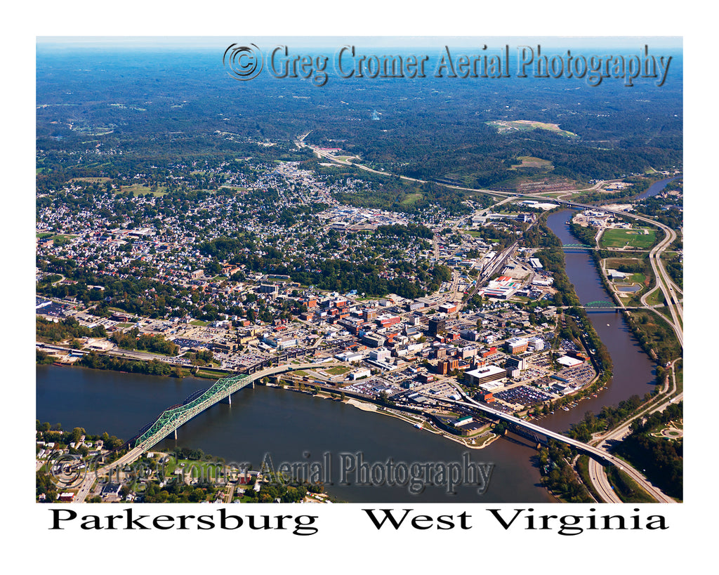 Aerial Photo of Parkersburg, West Virginia