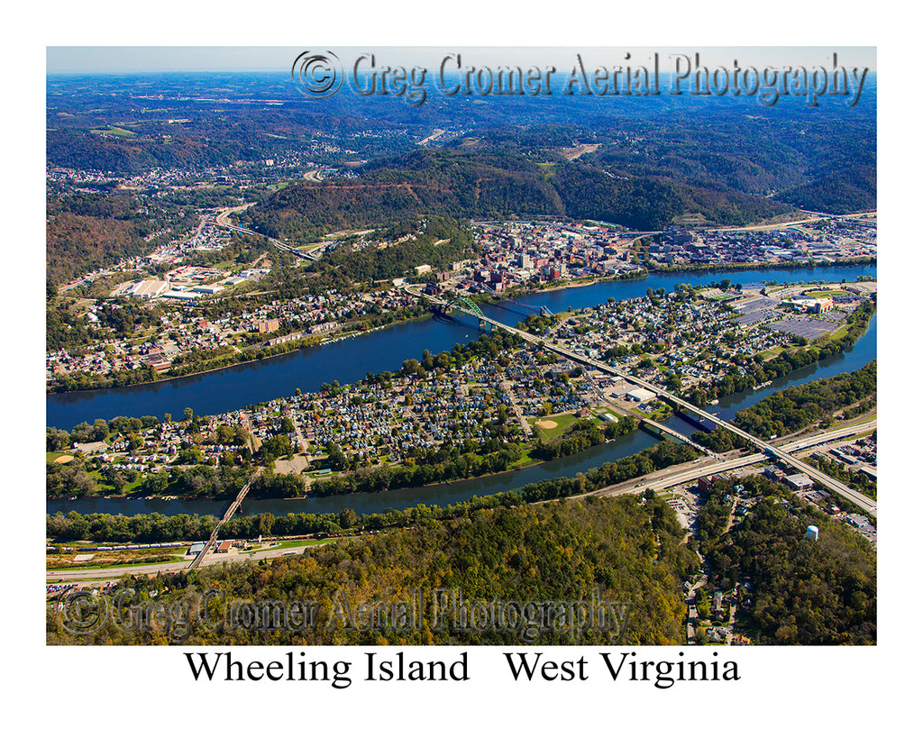 Aerial Photo of Wheeling Island, West Virginia