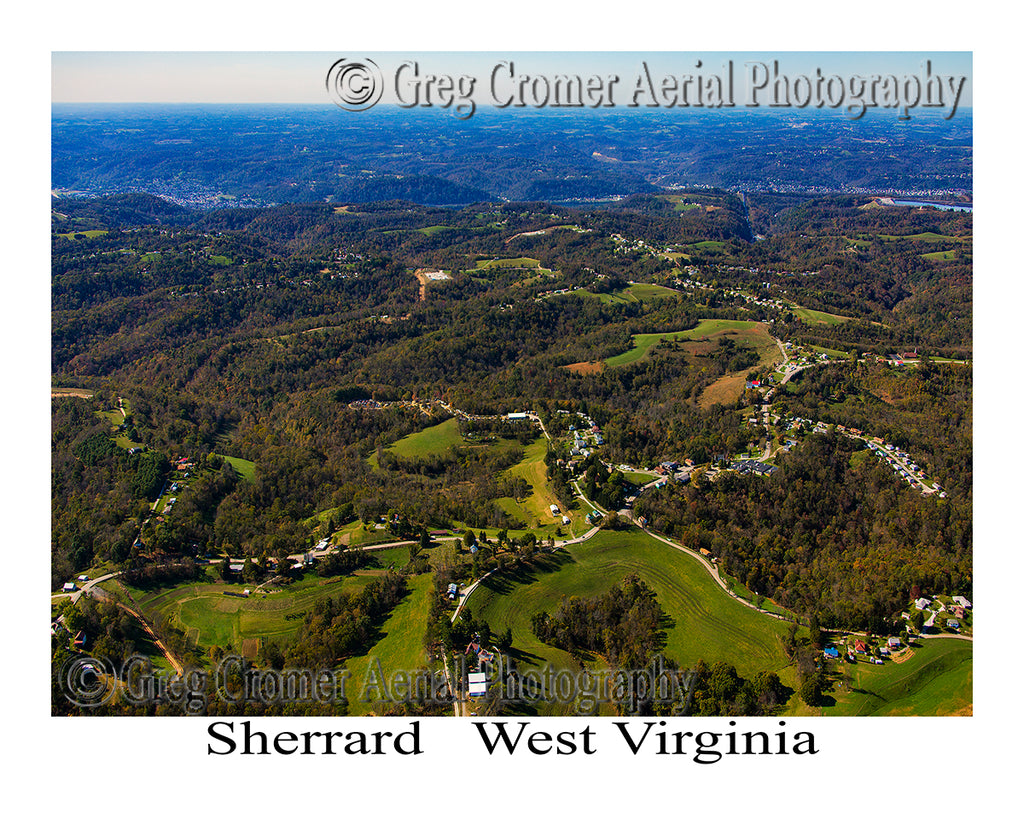 Aerial Photo of Sherrard, West Virginia