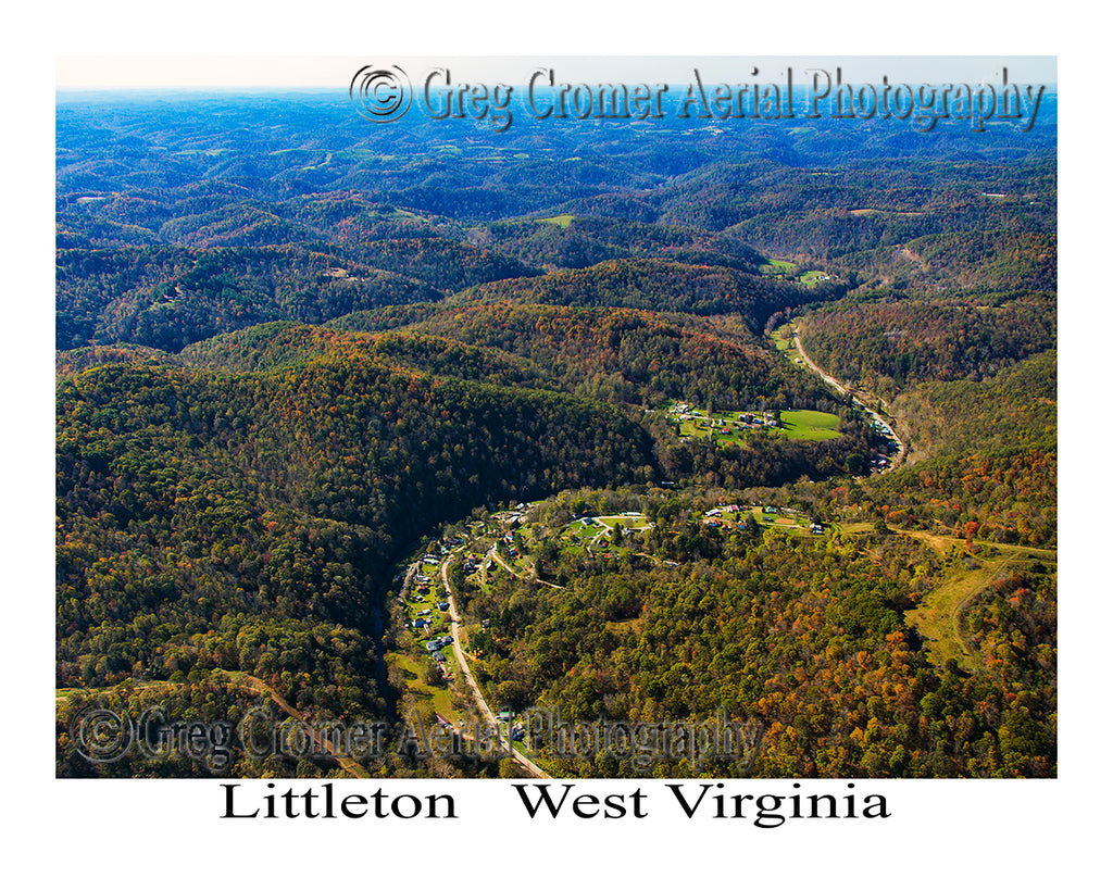 Aerial Photo of Littleton, West Virginia