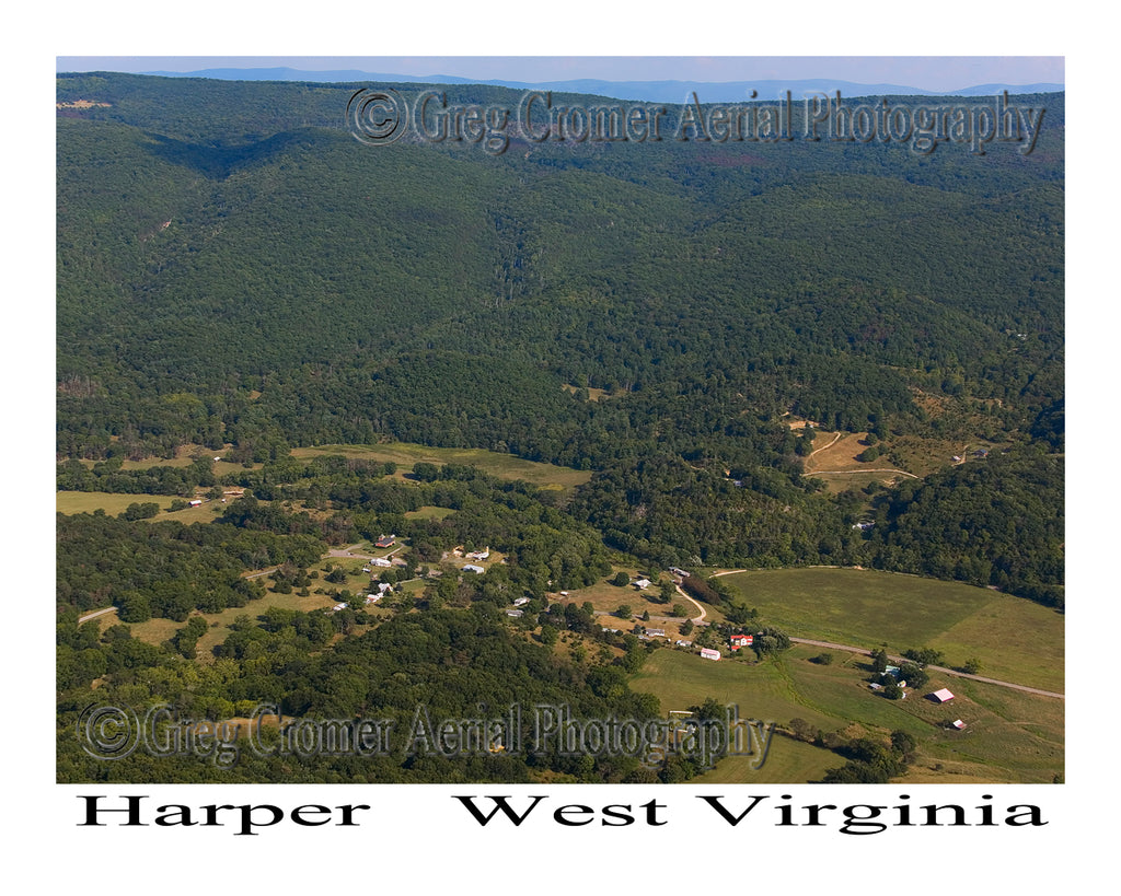 Aerial Photo of Harper, West Virginia