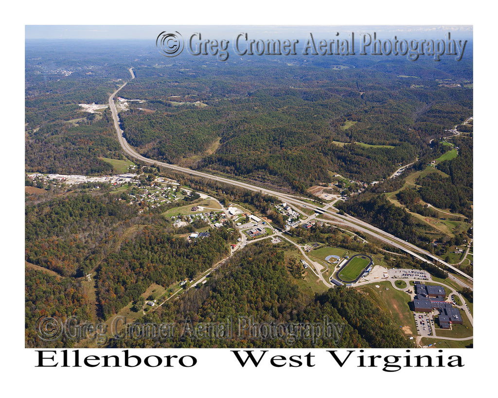 Aerial Photo of Ellenboro, West Virginia