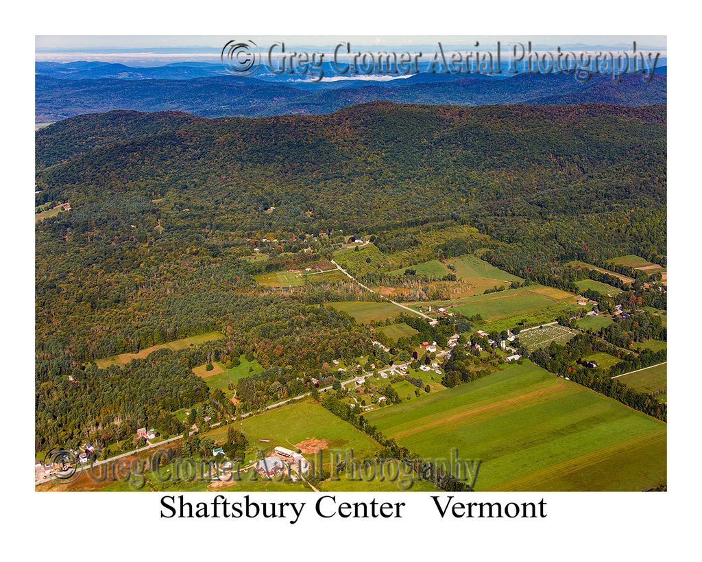 Aerial Photo of Shaftsbury Center, Vermont
