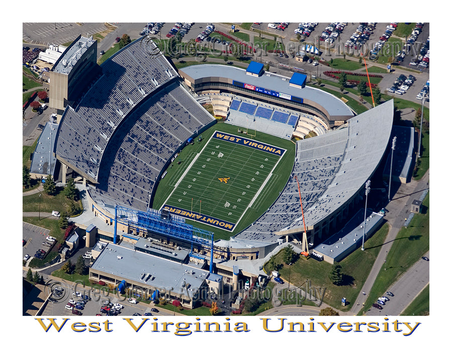 Aerial Photo of West Virginia University, Morgantown, West Virginia