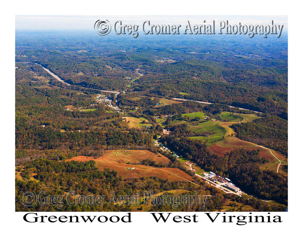 Aerial Photo of Greenwood, West Virginia