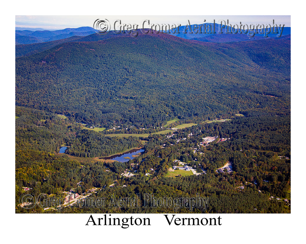 Aerial Photo of Arlington, Vermont